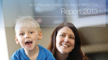 Australian Cerebral Palsy Register Report 2013 front cover