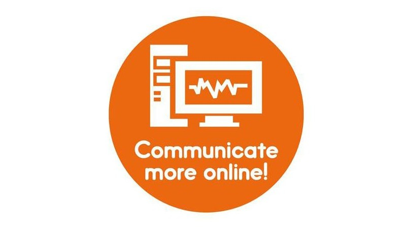 logo orange communicate more online