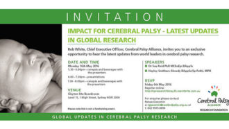Impact for cerebral palsy - latest updates in global research